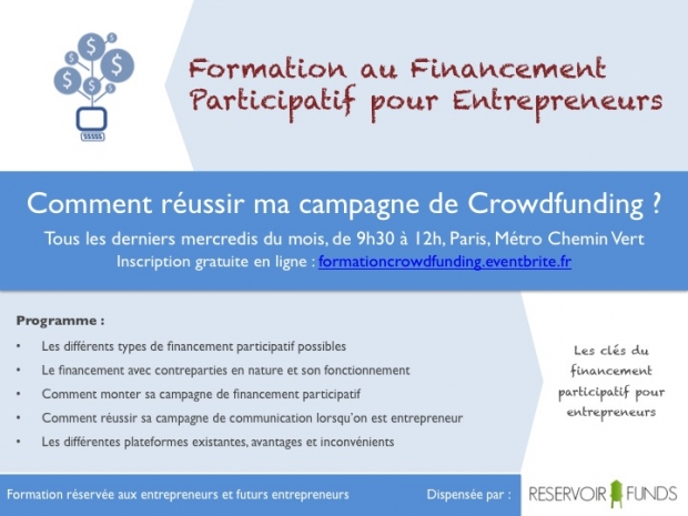 Invitation Formation Crowdfunding pour Entrepreneurs
