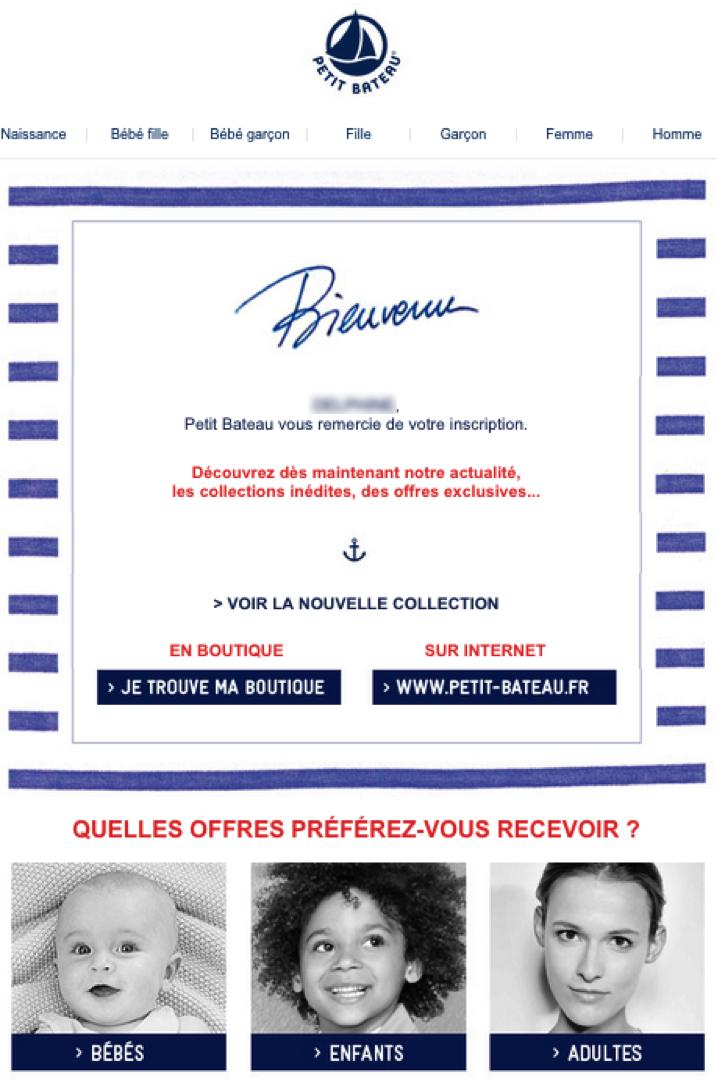 petit bateau email marketing