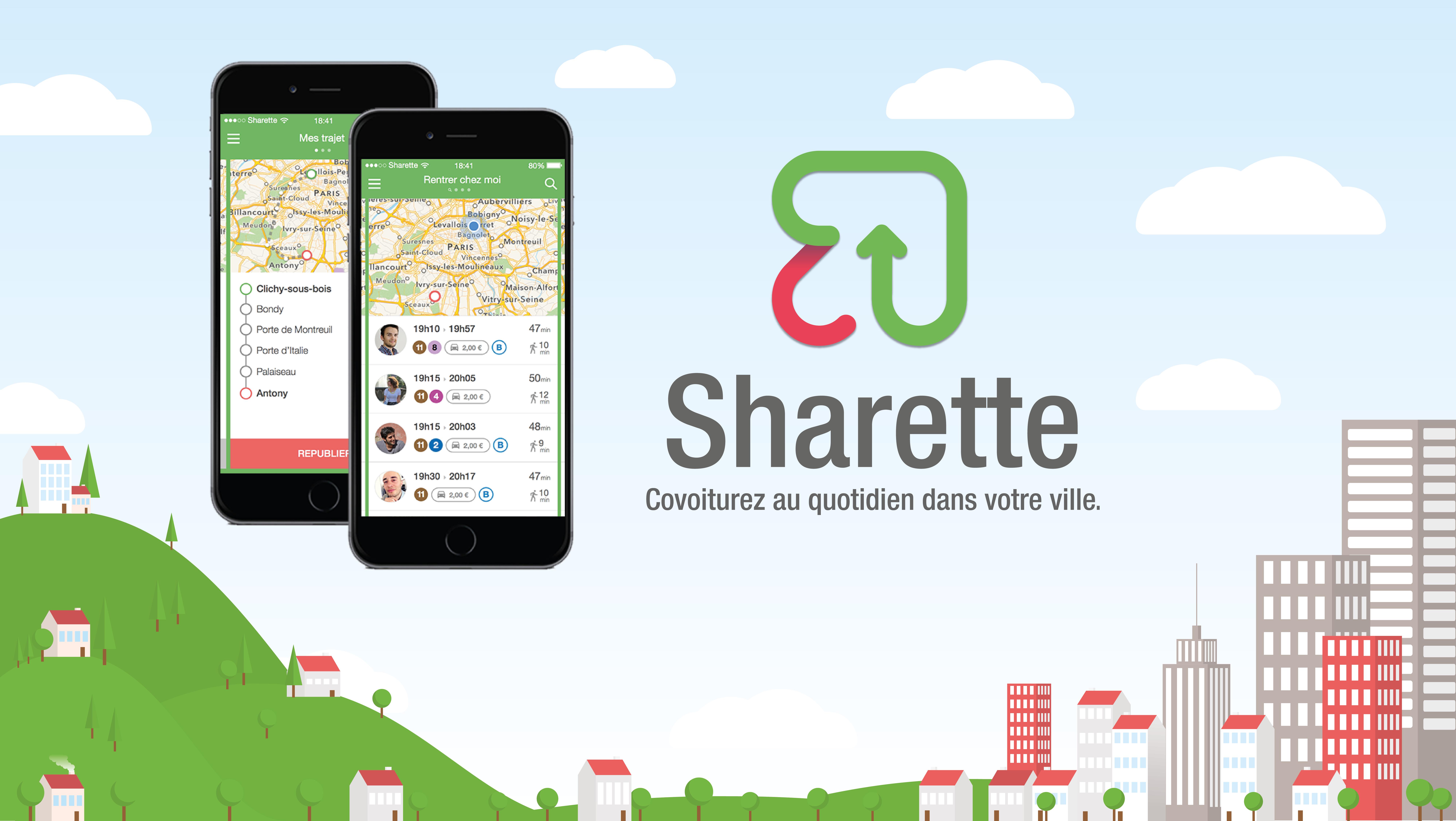 Bannière Sharette + ecrans HD
