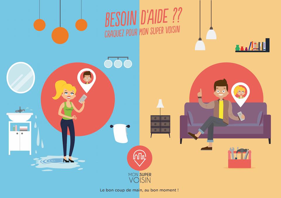 mon super voisin l application de services et d entraide entre particuliers qui r volutionne le. Black Bedroom Furniture Sets. Home Design Ideas