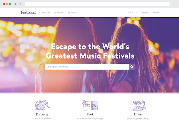 festicket homepage