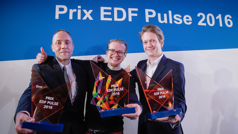 biomodex ecoisme et kara grands vainqueurs des prix edf pulse 2016. Black Bedroom Furniture Sets. Home Design Ideas