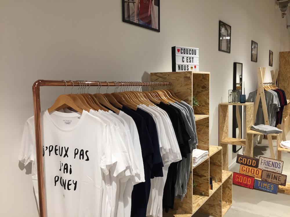 MonsieurTshirt - pop up store