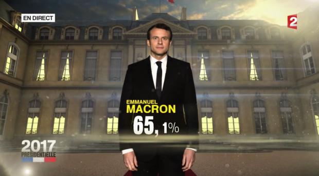 Emmanuel Macron elu
