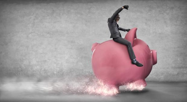 Piggy Bank and Businessman