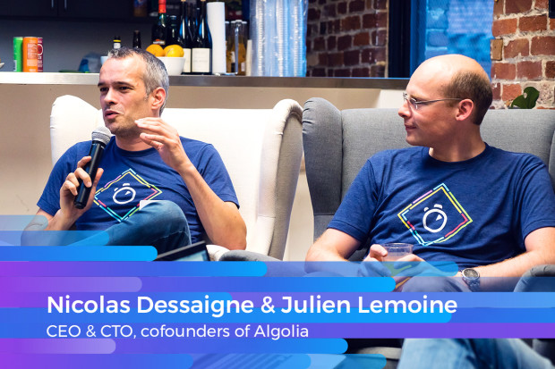 Algolia Cofounders speaking