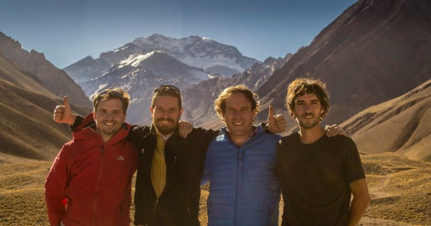 Part of Explore-Share.com team in front of Aconcagua