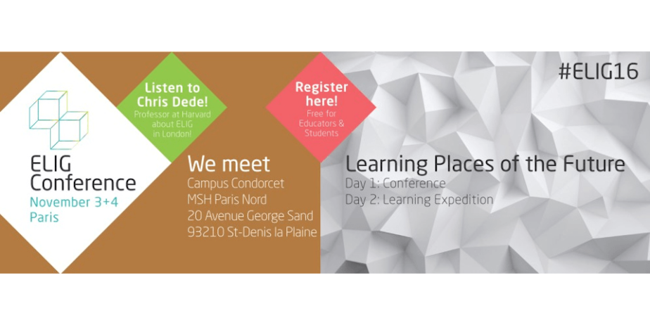 Conférence ELIG « Learning places of the future »