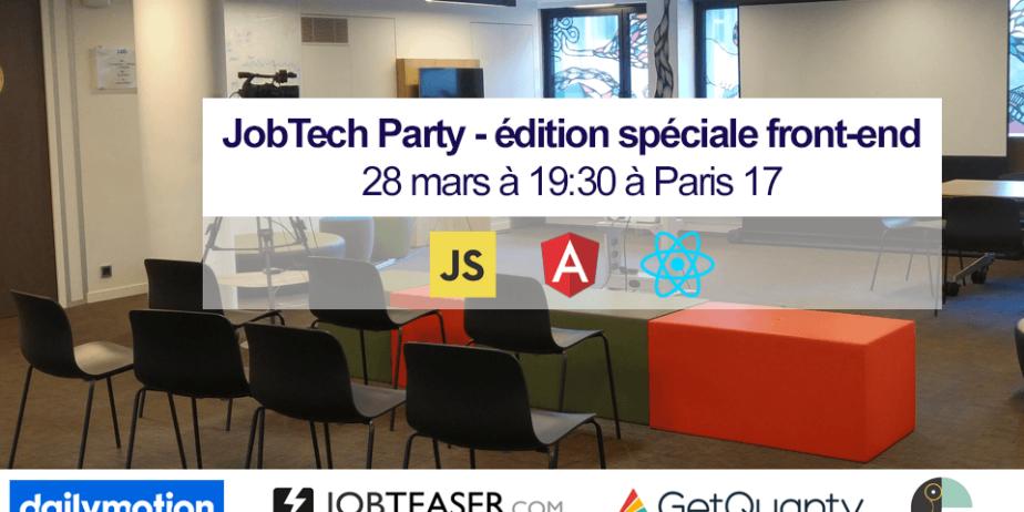 JobTech Party édition spéciale développeurs front-end