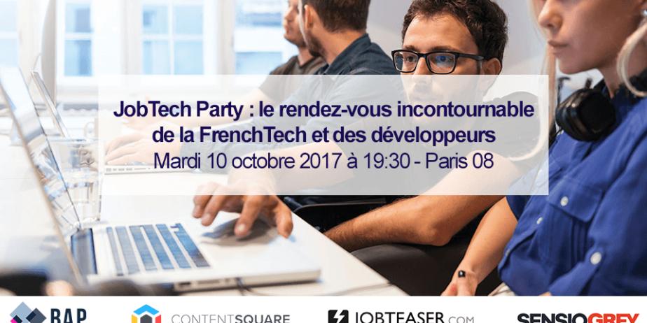 JobTech Party : Des coups de coeur professionnels, entre recruteurs de la FrenchTech et Développeurs, sont prévus mardi soir prochain à Paris