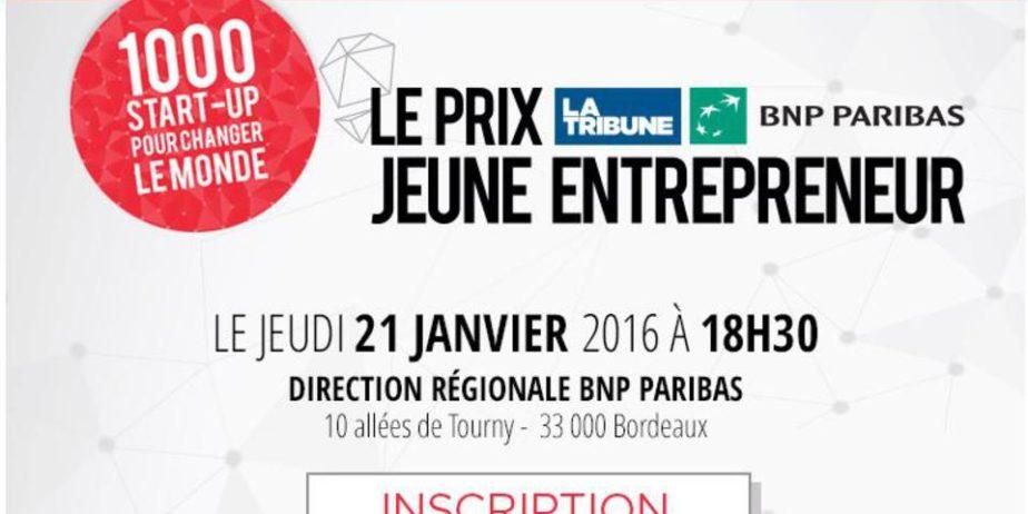 Prix La Tribune BNP Paribas Jeune Entrepreneur [Sud-Ouest]