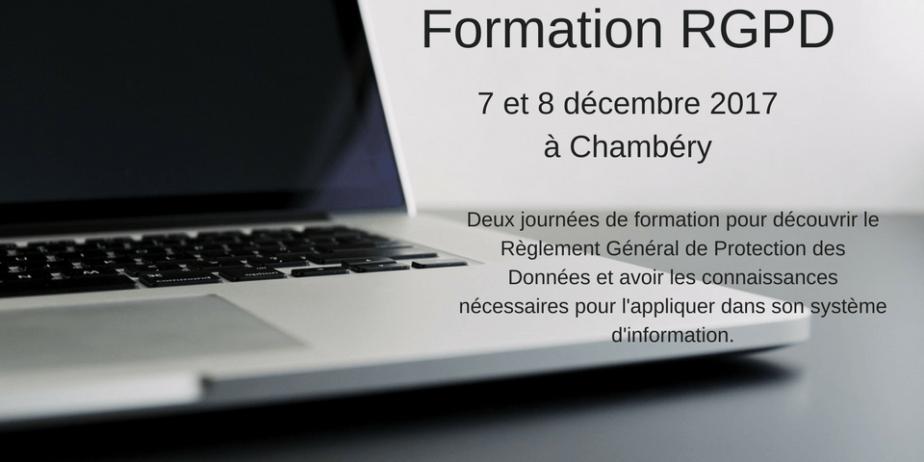 Formation RGPD à Chambéry