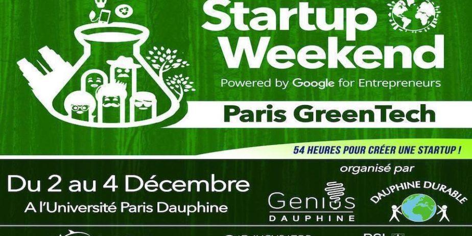 Startup weekend Greentech