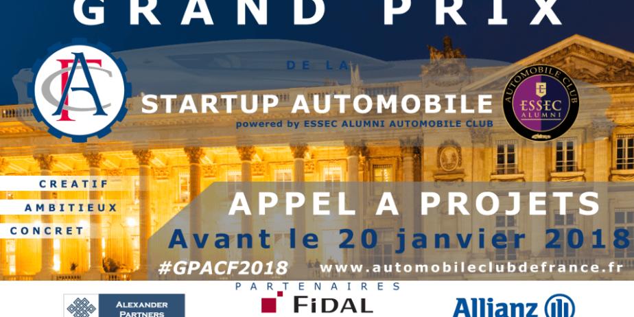 Grand Prix ACF de la Startup Automobile – Appel à Projets