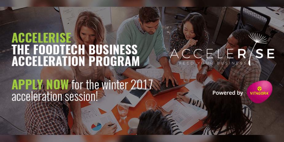 AcceleRise Foodtech Accelerator Appel à candidatures
