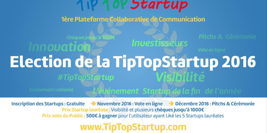 Élection de la TipTopStartup 2016
