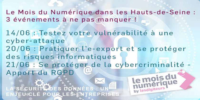 #MDN2018 : 3 événements dans les Hauts-de-Seine autour de la cybersécurité
