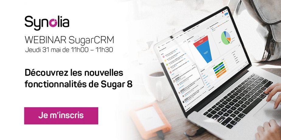 Webinar SugarCRM : Découvrez les nouvelles fonctionnalités de Sugar 8 pour votre mise en conformité au RGPD