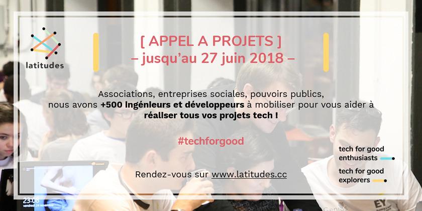 Latitudes lance son appel à projets #techforgood !
