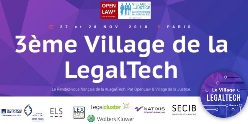 3ème Village de la Legaltech, par Village de la Justice et OpenLaw
