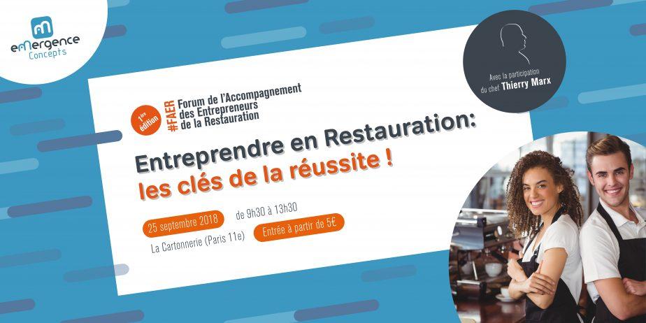 1er Forum de l'Accompagnement des Entrepreneurs de la Restauration