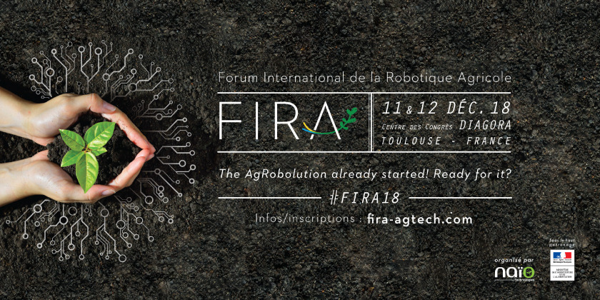 3è Forum International de la Robotique Agricole - FIRA 2018