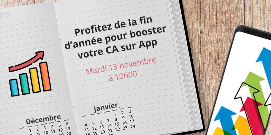 Webinar Marketing Mobile : Profitez de la fin d'année pour booster votre CA sur App
