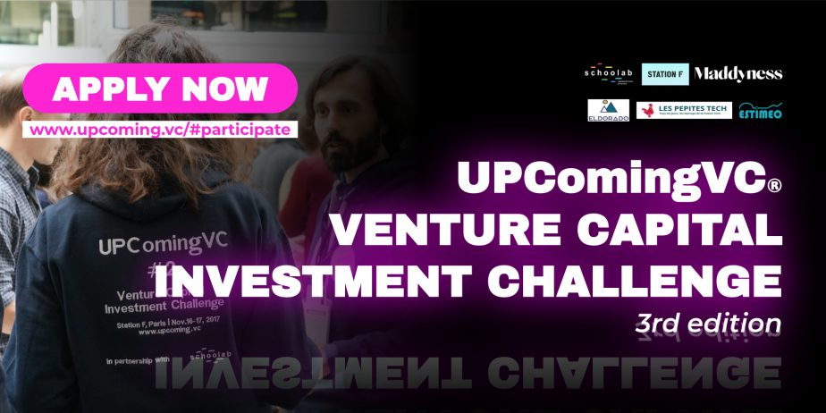 UPComingVC: 3rd Venture Capital Investment Challenge @ Station F