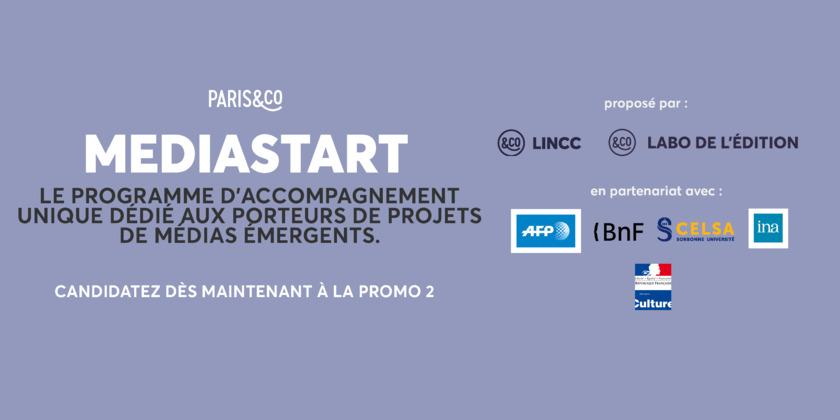 Paris&Co et ses partenaires l'AFP, la BNF, le CELSA et l'INA recrutent la promo 2 du programme MEDIASTART soutenu par le ministère de la Culture