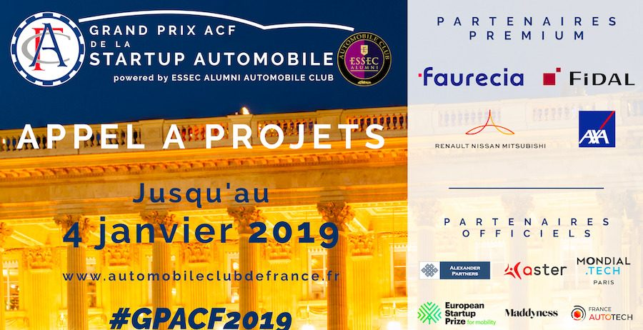 Appel à Projets - Grand Prix ACF de la Startup Automobile 2019, powered by ESSEC Alumni Automobile Club