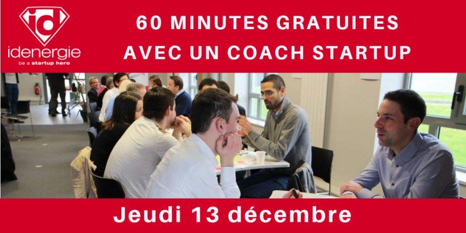 Besoin de challenger votre projet de startup ? Profitez de 60 minutes gratuites avec un coach startup Idenergie !