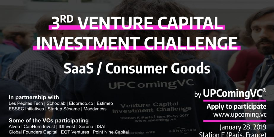 UPComingVC: 3ème Venture Capital Investment Challenge @ Station F