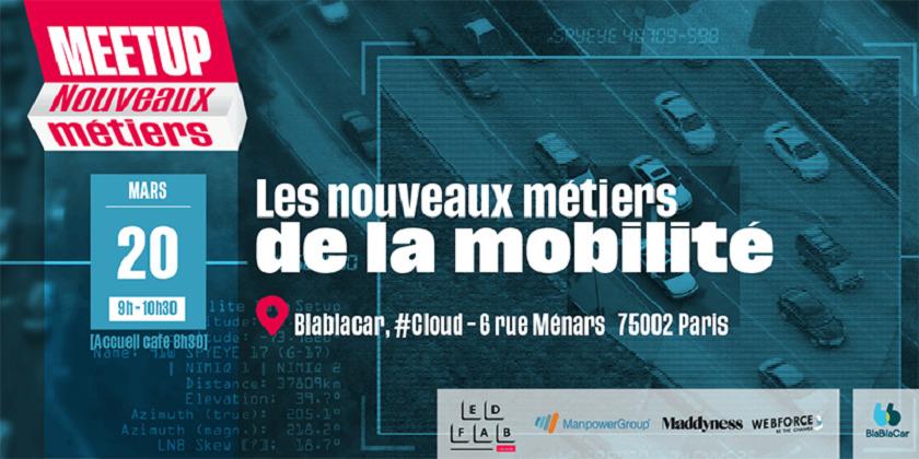 Meetup Nouveaux Métiers #1 : les nouveaux métiers de la mobilité