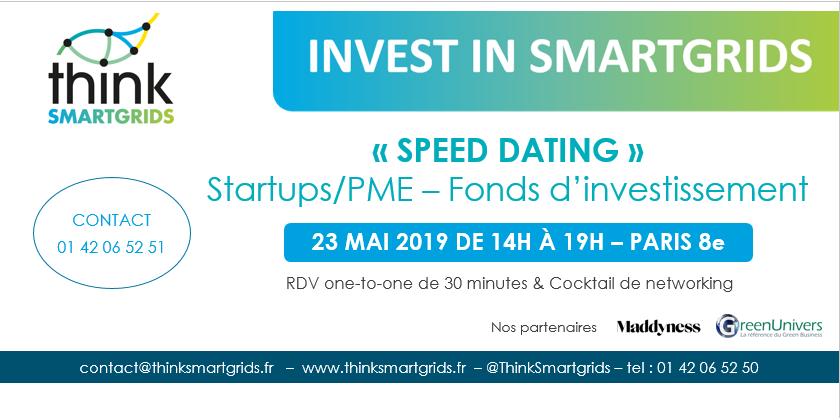 « Invest In Smart grids » : rencontres Startups / PME du secteur de l'énergie et fonds d'investissement