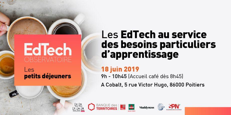 Petit déjeuner de l'Observatoire EdTech : les EdTech au service des besoins particuliers d'apprentissage