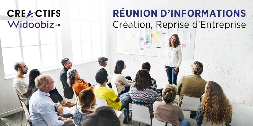 Réunion d'information à la création, reprise d'entreprise