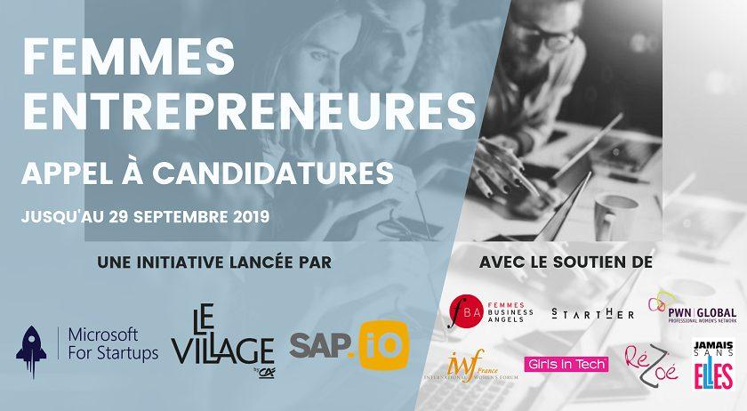 Appel à candidatures - Femmes entrepreneures