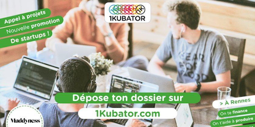 [APPEL À CANDIDATURES] 1kubator Rennes recrute une nouvelle promotion de startups!