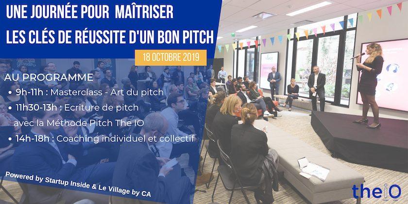 Coaching Pitch by The IO -  Une journée pour maîtriser les clés de réussite d'un bon pitch