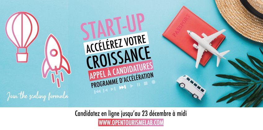 Appel à candidatures pour le programme d'accélération d'Open Tourisme Lab (accélérateur de start-up thématisé tourisme)