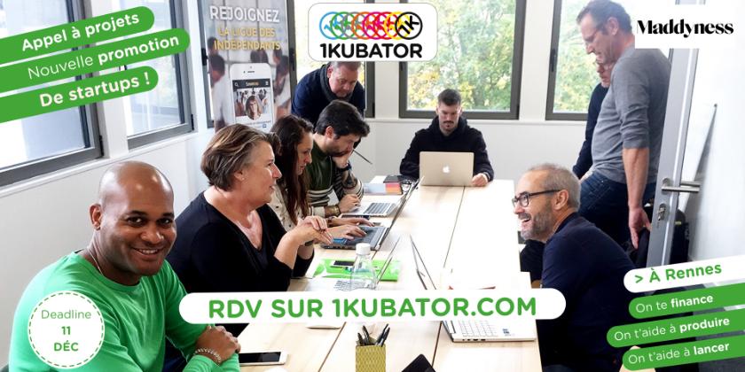 1kubator Rennes recrute une nouvelle promotion de startups