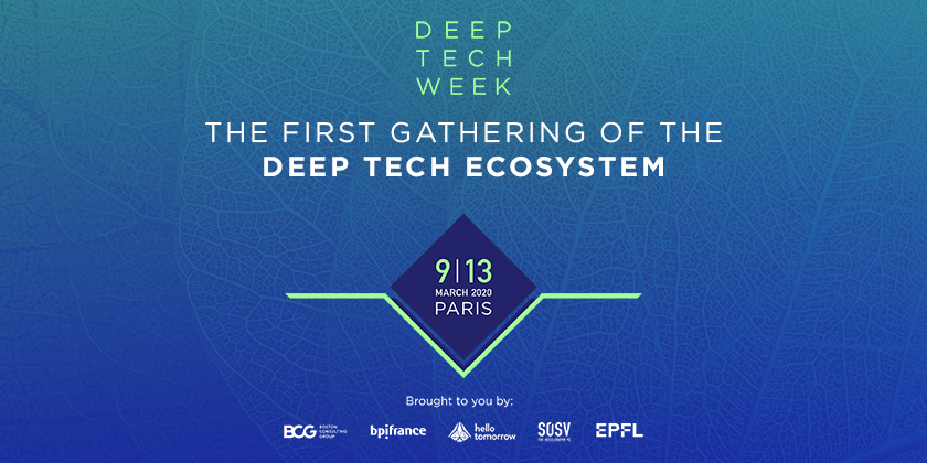 La première semaine dédiée aux technologies émergentes de rupture