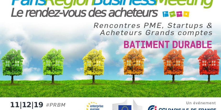 Rencontre Achats Paris Region Business Meeting - thème du bâtiment durable