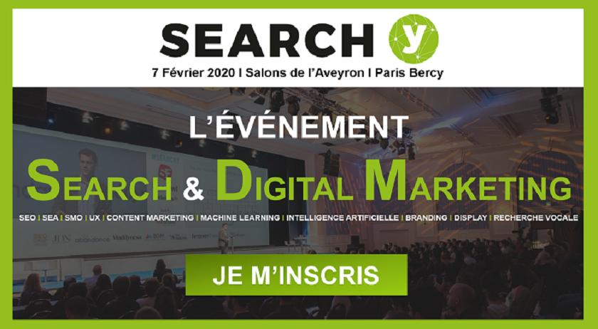 Search Y, l'événement search & digital marketing de 2020