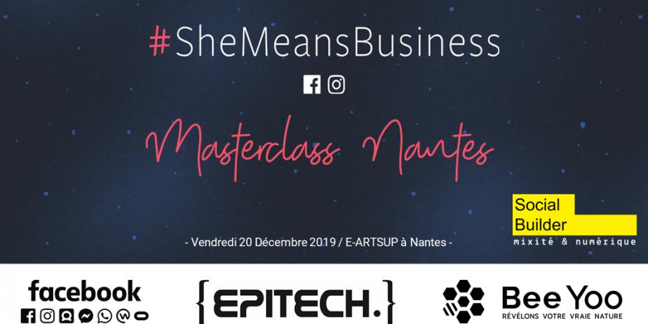 Entreprendre au Féminin - Masterclass #SheMeansBusiness à Nantes