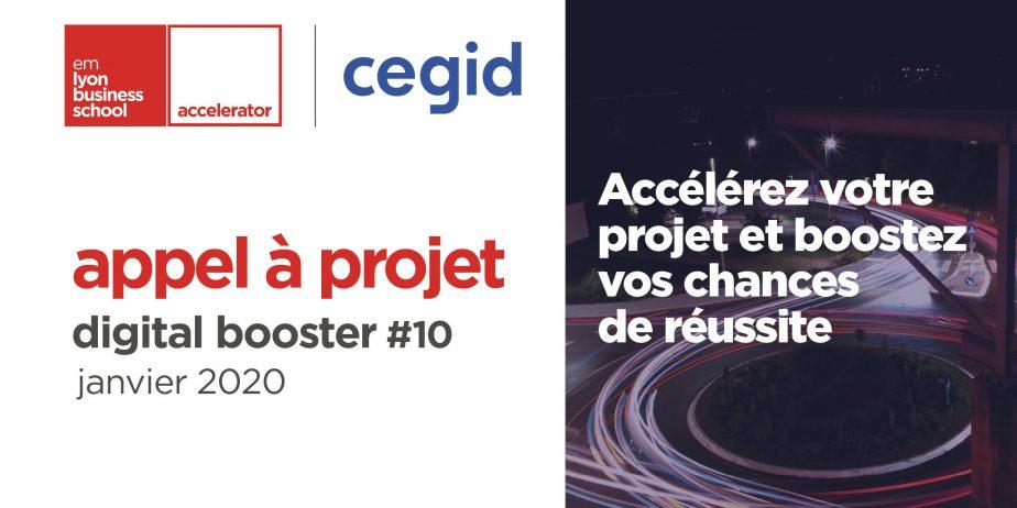 Plus que quelques jours pour postuler au Digital Booster, le programme d'accélération propulsé par l'accélérateur emlyon business school et Cegid !
