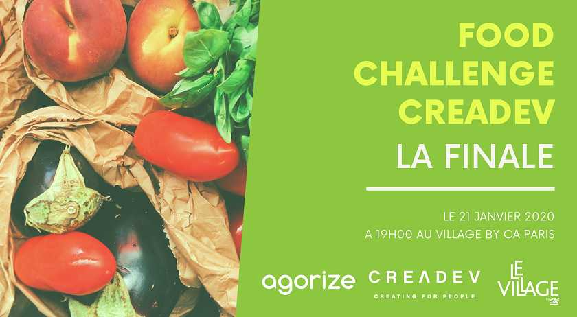 Finale de l'appel à candidatures #FoodChallengeCreadev