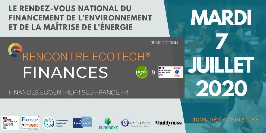 Rencontre Ecotech Finances - Pitchs investisseurs cleantech et rdv en BtoB