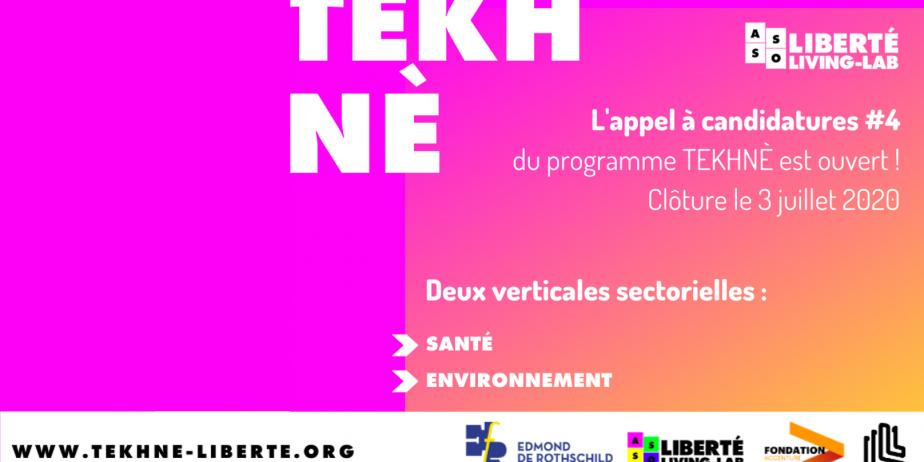 Programme d'incubation TEKHNÈ - Appel à projet #4