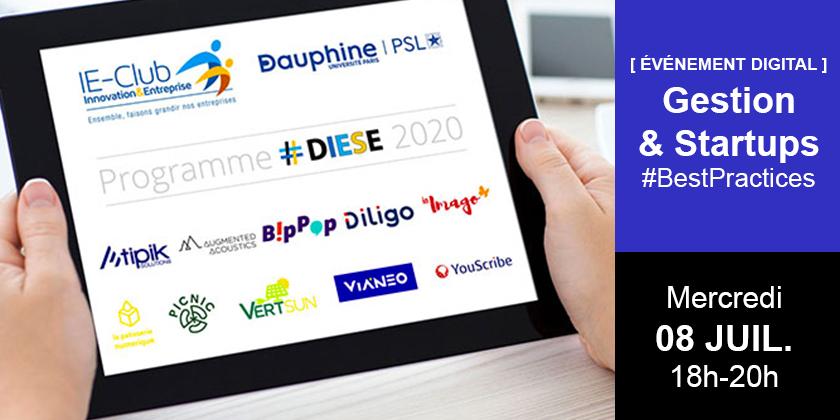 Gestion et startup : partage de best practices / Événement digital